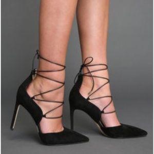 Sam Edelman Helaine Lace Up Heels Black Size 6.5